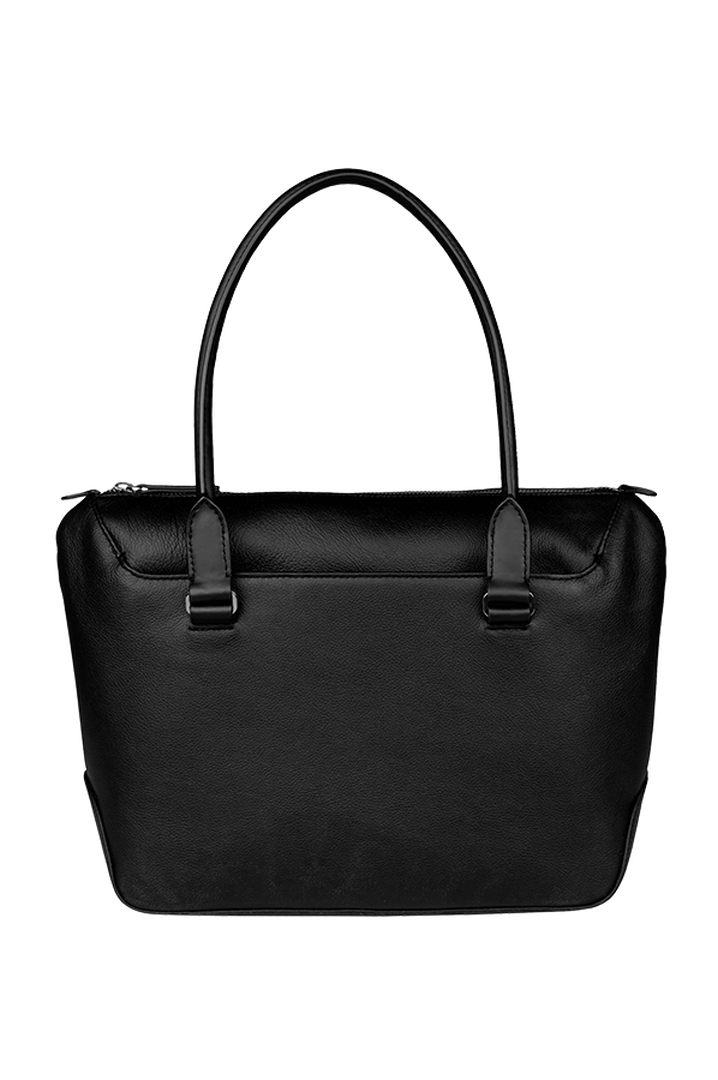 Plume Elegance Shopping Bag Black | 3