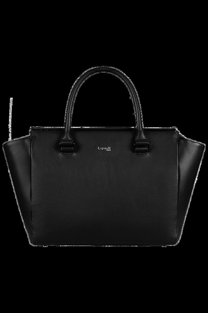 Plume Elegance Satchel Bag Black   1