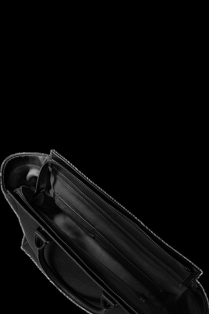 Plume Elegance Satchel Bag Black   2