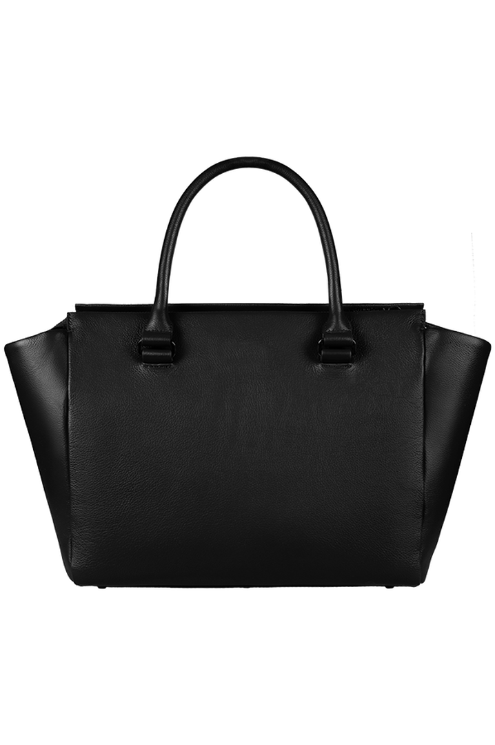 Plume Elegance Satchel Bag Black   4