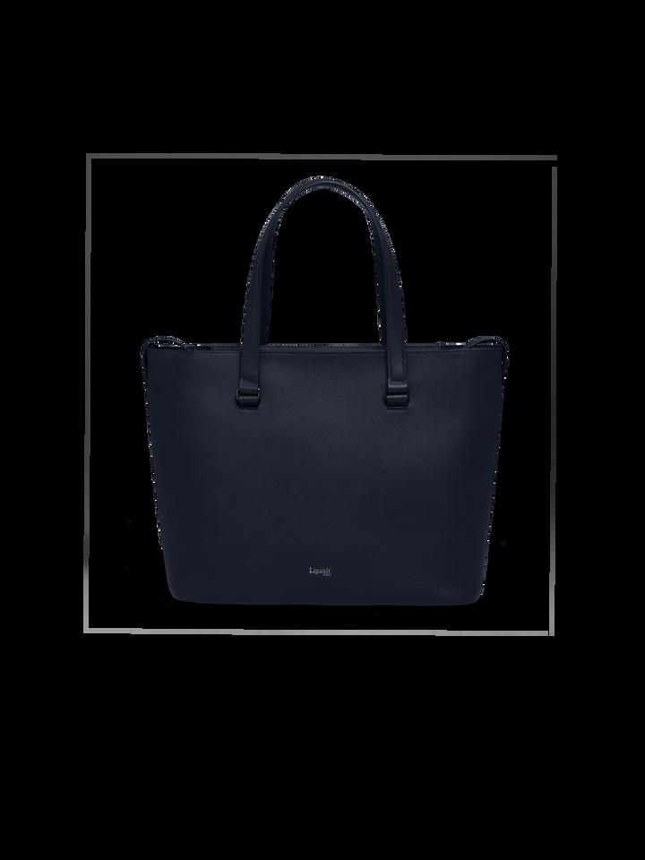 Plume Elegance Shopping Bag L Navy | 1