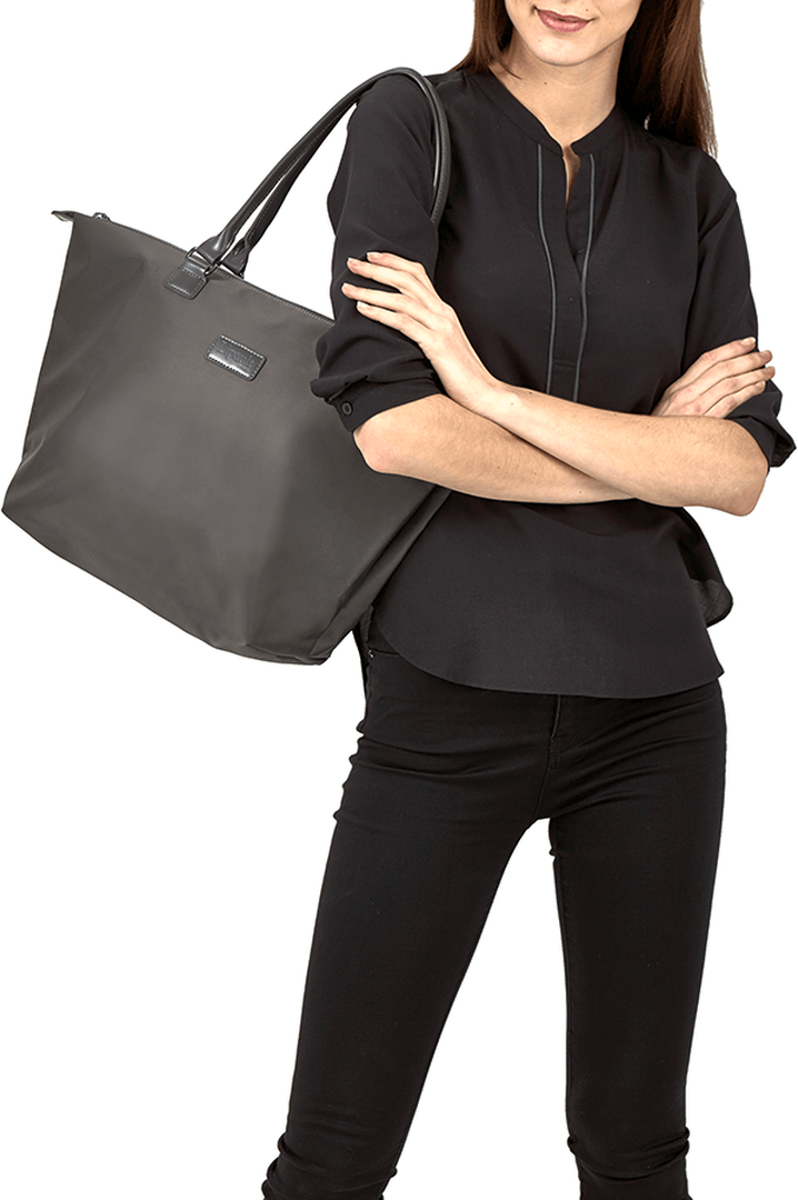 Lady Plume Shopping Bag M Anthracite Grey | 3