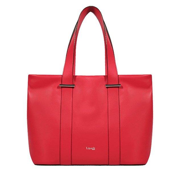 By The Seine Shopping Bag L Raspberry Red