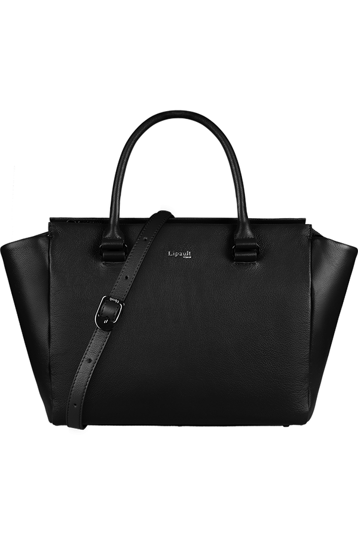 Plume Elegance Satchel Bag Black   5