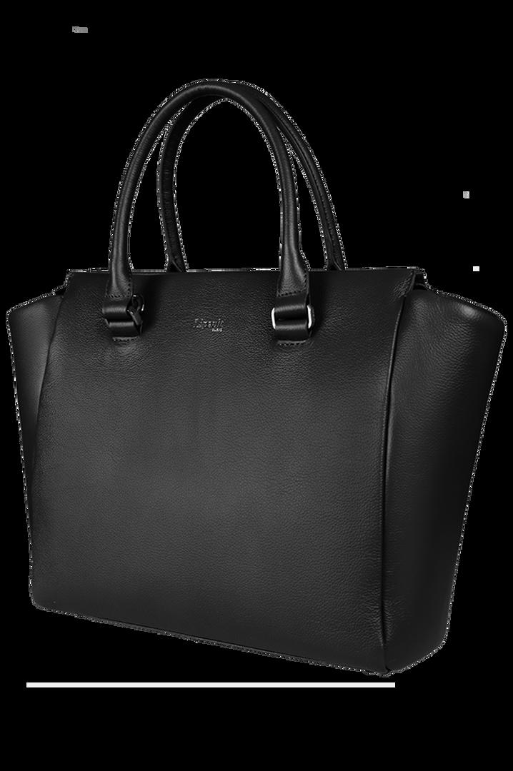 Plume Elegance Satchel Bag Black   7