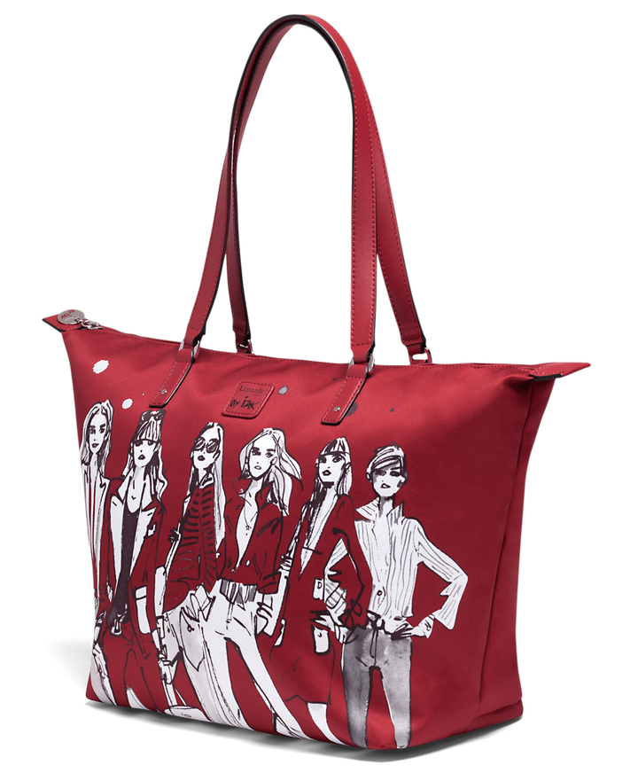 Izak Zenou Collab Shopping Bag M Pose/Garnet Red | 3