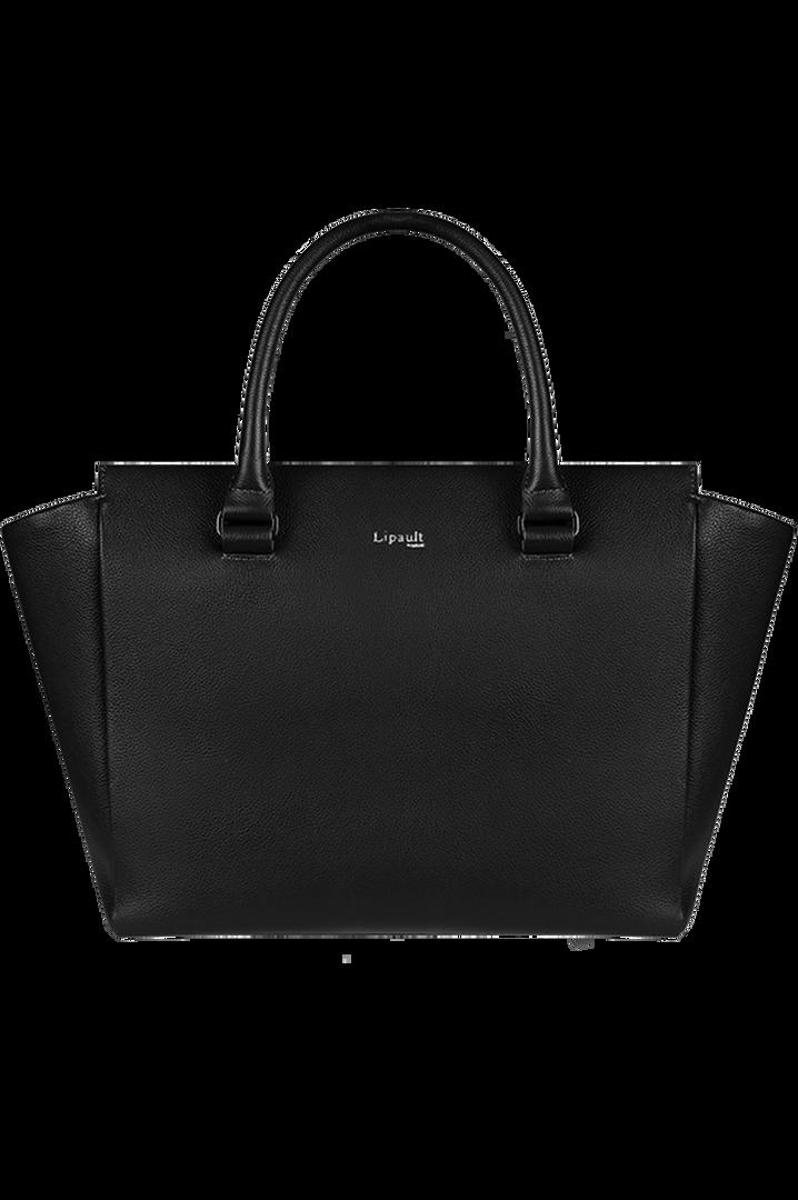 Plume Elegance Satchel Bag Black   6