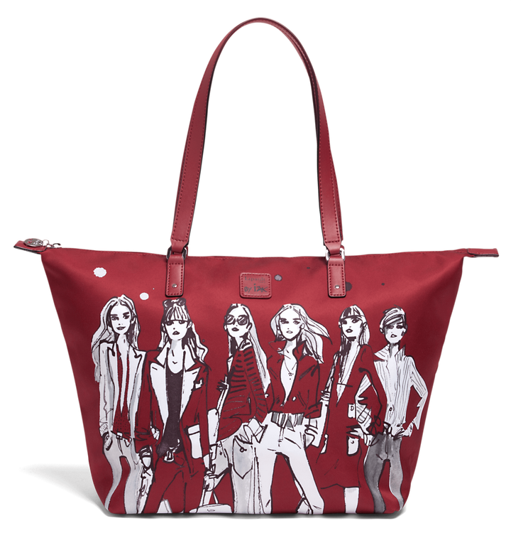 Izak Zenou Collab Shopping Bag M Pose/Garnet Red | 1