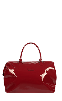 Lipault Plume Vinyle Weekend Bag M Ruby