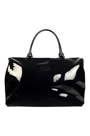 Lipault Plume Vinyle Weekend Bag M Black